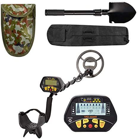 Esright Accurate Metal Detector with LCD Display, Gold Detector with 10in Waterproof Sensitive Search Coil, P/P & Disc Modes, Adjustable Height for Adults & Kids