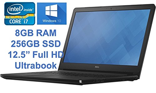 Dell Latitude E7240 Business Laptop, 12.5 screen, Intel Core i7-4600U, 8GB DDR3L RAM, 256GB SSD, Windows 10 Professional (Certified Refurbished)