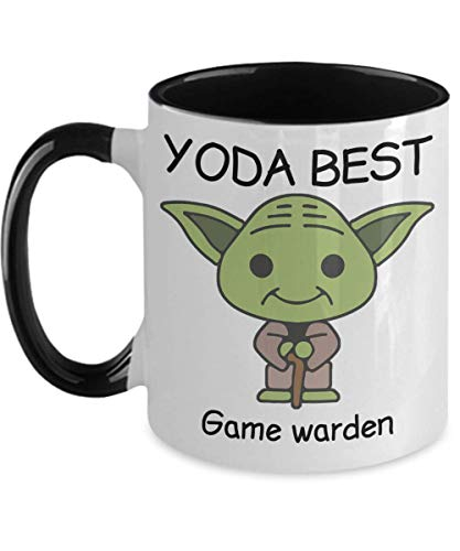 Yoda Best Game warden - Novelty Gift Mugs for Star Wars Fans - Co-Workers Birthday Present, Anniversary, Valentines, Special Occasion, Dads, Moms, Family, Christmas - 11oz Funny Coffee Mug (Best Degree For Game Warden)
