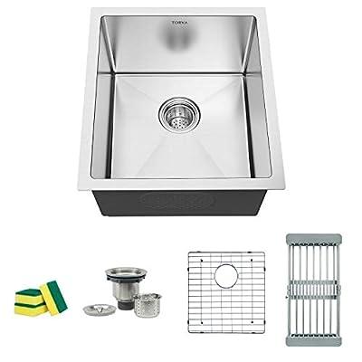 TORVA Undermount Kitchen sink Stainless Steel Single Bowl 16 Gauge Kitchen sink Deep 9''