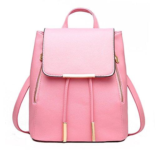 Mossimo Black Belt (Hanshu PU Leather Solid Embossing Backpack Bags, Lightweight Tote Tassels Daypacks,)