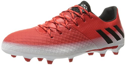 adidas Men's Messi 16.2 Firm Ground Cleats Soccer Shoe, Red/Black/White, (11 M US)