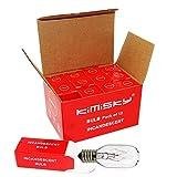 Kimisky 25 Watt Salt Lamp Bulbs, Himalayan Salt Lamp Replacement Bulbs 12 Pack E12 Socket Incandescent Light Bulbs Adjustable Brightness (E12 25W)