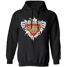 SMARTZONE Arsenal Super Hero Logo Soccer Football Futbol Men's Hoodie Sweatshirt