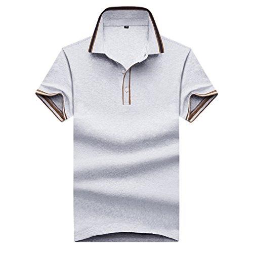 疼痛不機嫌箱SemiAugust(セミオーガスト)メンズ ポロシャツ 半袖 カジュアル ゴルフウェア シンプル シャツ ボタンダウン 綿 スキニー おしゃれ スポーツ ウエア 吸汗 無地 快適 メンズファッション オフィス
