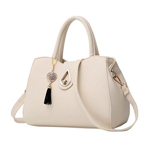 Fashion Working Leather Bag Shoulder Messenger Bag Office White Ladies Handbag Bag Satchels Womens Pw5Ycqv