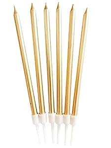 Amazon.com: YYHC - 6 velas metálicas largas y finas para ...