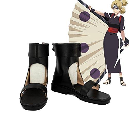 Naruto Shippuden Temari Scarpe Cosplay Stivali Su Misura 2