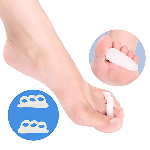 White Gel Toe Separators   Toe Stretchers Alignment Bunion Pain Relief     2 Pcs