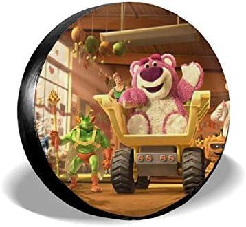 トイストーリーピンクのくまちゃん1 タイヤトート タイヤカバー タイヤバッグ 持ち運び便利 防日焼け 防水 劣化対策 タイヤ収納 1枚