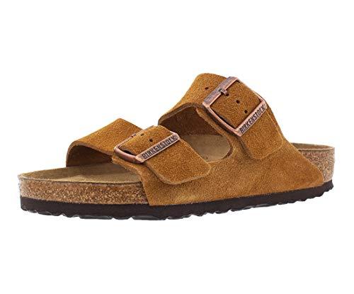 - Birkenstock Men's Arizona Soft Footbed Sandal Mink Suede Size 42 M EU
