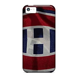Anti-Scratch Hard Phone Case For Iphone 5c (MoP19015KDeW) Support Personal Customs Trendy Montreal Canadiens Skin