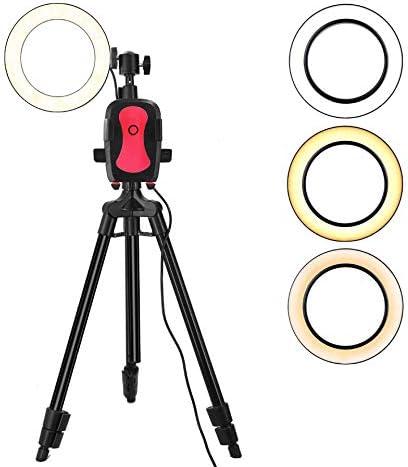 リングライト、充電式セルフィーリングライト、36レベルハイライトLEDの3レベルの明るさ調整クリップ、Webキャスト用、および携帯電話のスマートフォン用のメイクアップの適用