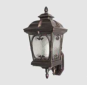 LIGHT- European style outdoor waterproof courtyard villa wall lamp Aluminum Light body glass lampshade wall lamp