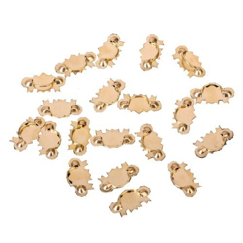 TOOGOO(R) 20Pcs Dollhouse Furniture Hardware Metal Drawer Handle Pulls -Golden