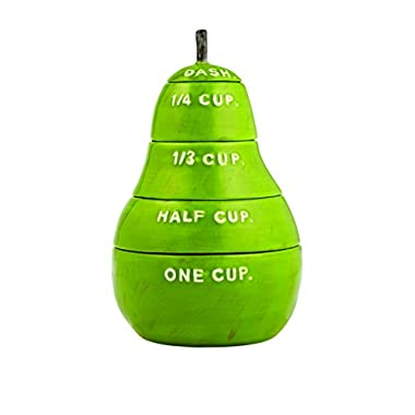 Stoneware Pear Measuring Cup Color: Green