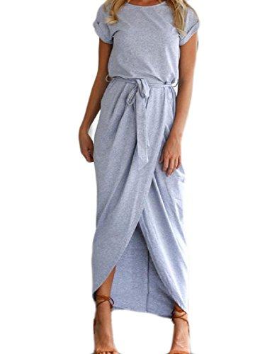 Magro Vestito Blu Solido Comodi Luce Tagliati Benda Maxi Irregolare Womens Spiaggia ztPfq
