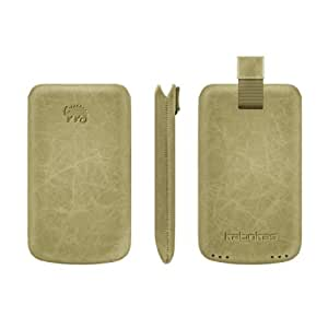 Chameleon High Quality Handmade Leather Case with Pull Tab Strap for Samsung Galaxy i5500 - Non-Retail Packaging