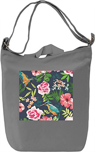 Flowers Texture Borsa Giornaliera Canvas Canvas Day Bag  100% Premium Cotton Canvas  DTG Printing 