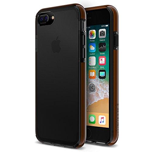 iPhone 8 Plus Case, 7 Plus Case, Maxboost HyperPro Heavy Duty Cover w/ [GXD Gel Drop Protection] for Apple iPhone 8 Plus,7 Plus,6/6s Plus 2017 Reinforced TPU Bumper/ PC back -Translucent Jet Black