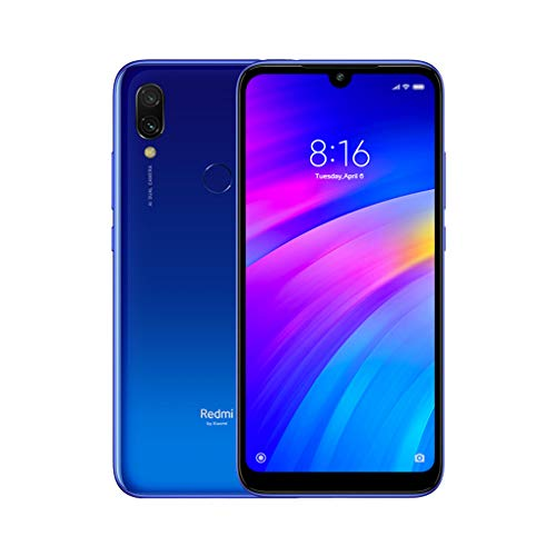 Redmi 7 3 GB di RAM 32 GB ROM versione globale Dual SIM Snapdragon 632 Octa Core 4000mAh Redmi Seven Smartphone (Blue)