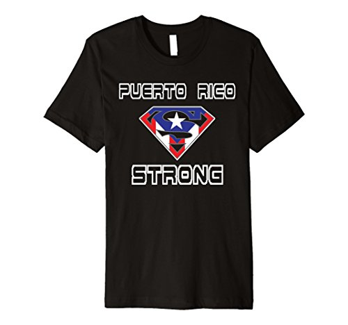 Mens Puerto Rico Strong Tee Shirt | Love Puerto Rico Medium Black - Puerto Rico Dress