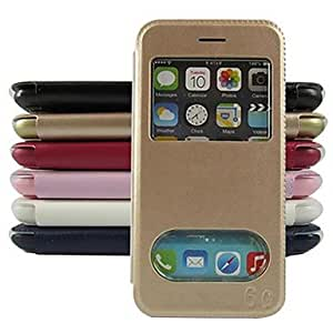 JJE View Window PU Leather Full Body Cover for iPhone 6 (Assorted Color) , Golden