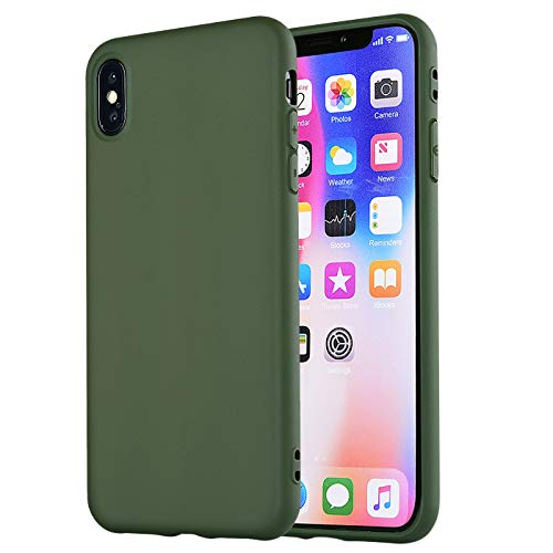 iPhone Xs Max Case,iPhone Xs Plus Case, Manleno Slim Fit Full Matte Skin Case Soft Flexible TPU Silicone Cover Case For iPhone Xs Max 6.5