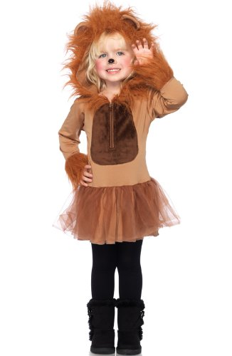 Leg Avenue Children's Cuddly Lion Costume, Small/Petite, Brown
