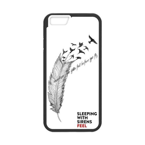 Fayruz- Personalized Protective Hard Textured Rubber Coated Cell Phone Case Cover Compatible with iPhone 6 & iPhone 6S - Sleeping with Sirens F-i5G1107