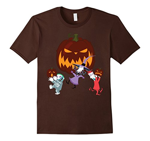 [Men's Lock Shock and Barrel Halloween Funny Tshirts XL Brown] (Lock Shock And Barrel Costumes For Kids)