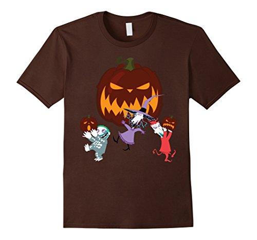 Men's Lock Shock and Barrel Halloween Funny Tshirts XL Brown