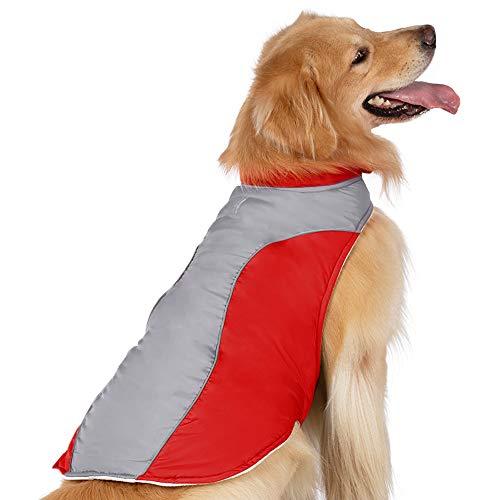 rabbitgoo Winter Coat Fleece Lined Pet Coat Warm Cotton Filling Dog Apparel Waterproof Dog Jacket with Reflective Trims…