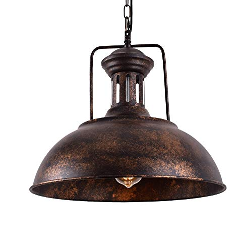 - Lingkai Pendant Lighting Industrial Nautical Barn Pendant Light Single with Rustic Dome Bowl Shape Mounted Fixture Ceiling Lamp Chandelier