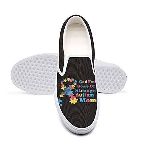 - Skateboard Womens Sneakers Shoes God Found Some of The Strongest Autism Slip ons for Women Print Lightweight Canvas Sneakers