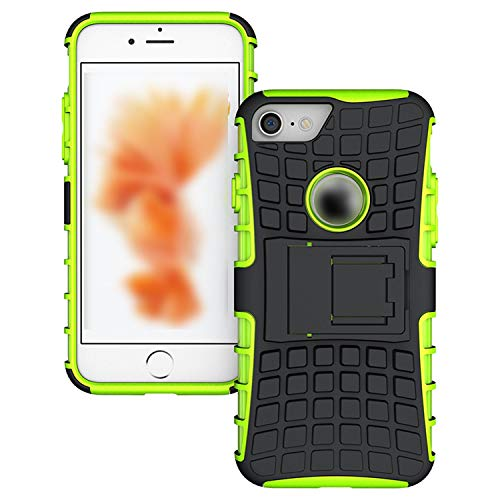 Rugged TPU Plastic Hybrid Heavy Duty Armor Phones Case for Apple iPhone 4S 5 5S SE 6 6s 7 8 Plus 7Plus X Shock Proof,Green,for iPhone 6 Plus