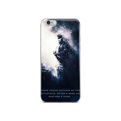 iPhone 6/6s Case Anti-Scratch Gamer Video Game Transparent Cases Cover Snake Metal Gear Solid Tagline Gaming Computer Crystal Clear