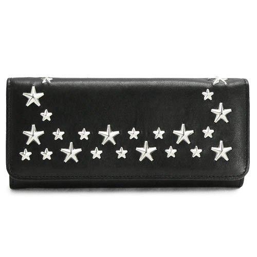 (ジミーチュウ) Jimmy Choo 長財布 NINO CSQ 001/BLACK×SILVER 二つ折り スタースタッズ レザー ブラック [並行輸入品] B00I034GIQ