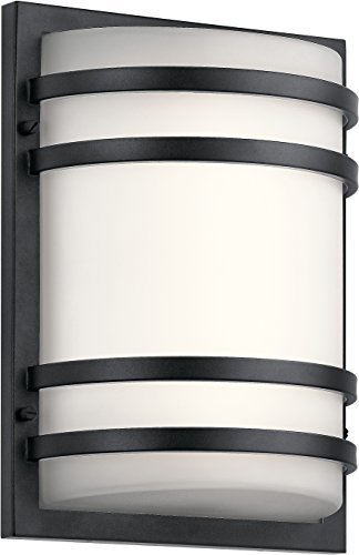 KICHLER 11320BKTLED No No Family Outdoor Wall - XLarge, Textured Black (X-large Outdoor Wall Fixture)