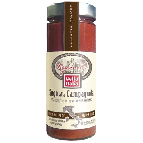 Bella Italia Sugo Alla Campagnola 19.4 oz (Pack of 2) Porcini Pasta Sauce