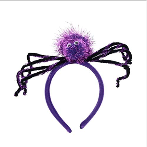 (Party Diy Decorations - Colorful Spider Web Scary Headband Children Adults Hairband Headwear Halloween Party Hair Dress Up - Party Decorations Party Decorations Halloween Head Band Winter)
