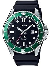 Casio Men's Stainless Steel Quartz Sport Watch with Plastic Strap, Black, 26 (Model: MDV-106B-1A3VCF)