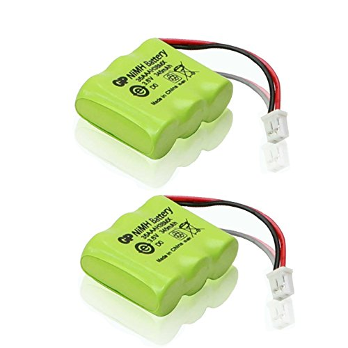 2 Pack of Dogtra 282NCP Battery - Replacement Dog Training Collar Receiver Battery (370mAh, 3.6V, NI-MH) -