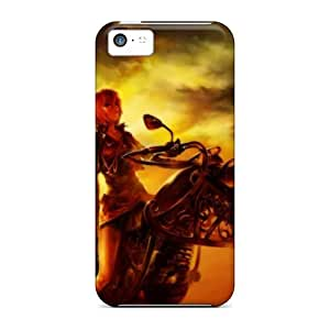 Fashionable Style Case Cover Skin For Iphone 5c- Motorbike Fantasy