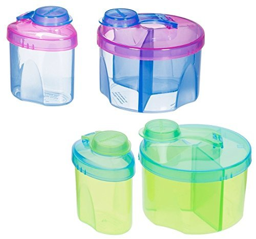 Munchkin Formula Dispenser Combo Pack, Blue/Green - 2 Sets