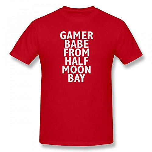 Gamer Babe from Half Moon Bay Customizable Personalized Men's T-Shirt Tee Red -