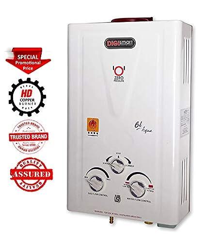 DIGISMART Aqua LPG Instant Gas Water Heater with 100% Copper Tank (Ivory)