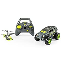 Discover the 2-in-1 action of the Shadow Launcher Car Copter from Air Hogs! The Shadow Launcher is a rugged, remote control ground vehicle built to conquer any indoor terrain. Defeat ground obstacles with the push of a button as the roof open...