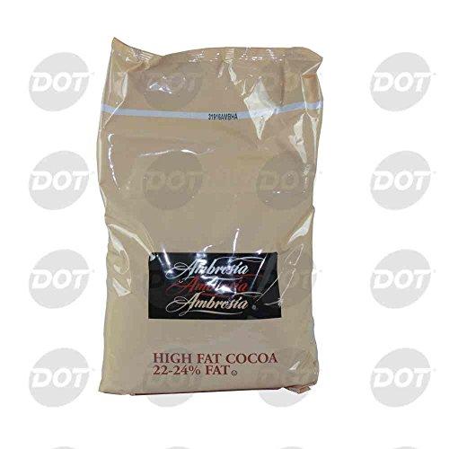 Ambrosia 22/24 Natural High Fat Cocoa Powder, 5 Pound -- 6 per case.