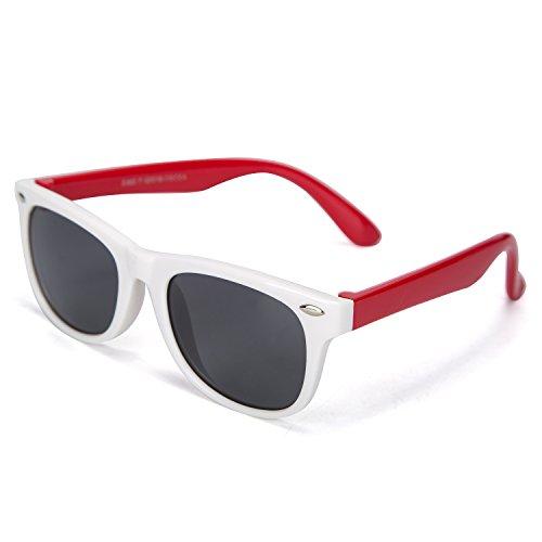 Kids Polarized Sunglasses Unbreakable Sport Durable Bendable Unisex Glasses for Boy & Girl-UV400
